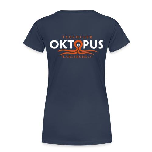 Damen-Okto-Shirt in navy - Frauen Premium T-Shirt