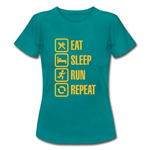 Eat Sleep Run Repeat Womens Tee - Women's T-Shirt