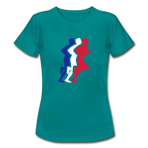 Running Figure 3 Colour womens Tee - Women's T-Shirt