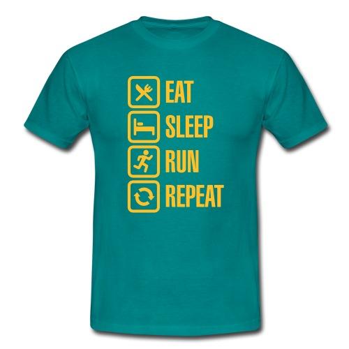 Eat Sleep Run Repeat Mens Tee - Men's T-Shirt