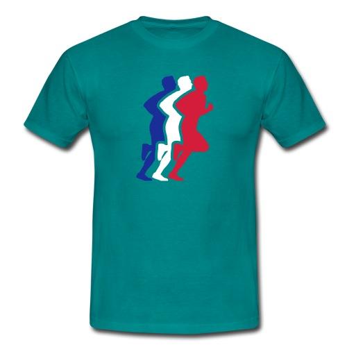 Running Figure 3 Colour mens Tee - Men's T-Shirt