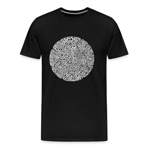 White Versatile EP on Black Shirt - Männer Premium T-Shirt