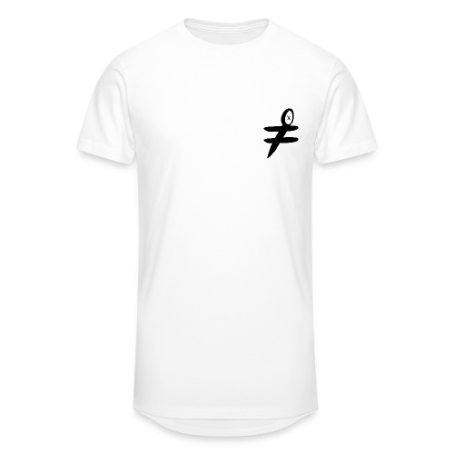 Blind Bat Logo White Longline T-Shirt - Men's Long Body Urban Tee