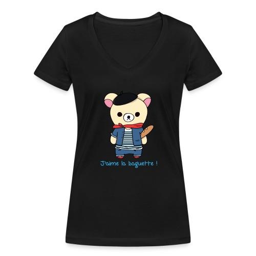 Teddy Frenchy - T-shirt bio col V Stanley & Stella Femme