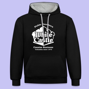 White Castle Hoodie - Contrast Colour Hoodie