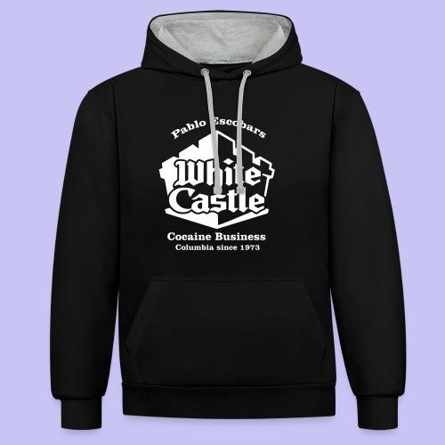 White Castle Hoodie - Contrast Colour Hoodie