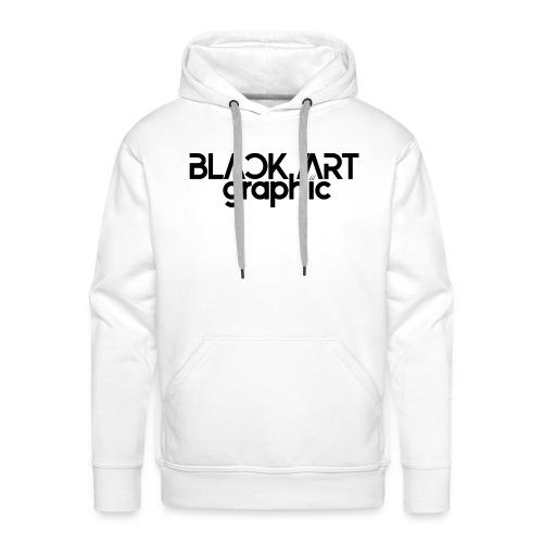 Black Art Graphic Hoodie - Männer Premium Hoodie