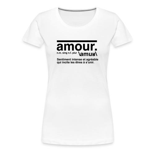 amour - Women's Premium T-Shirt