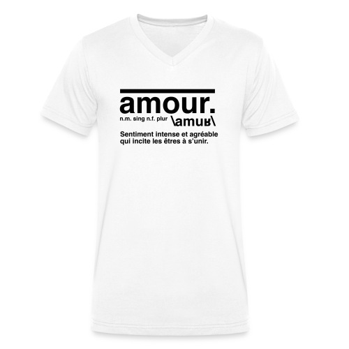 amour - Men's Organic V-Neck T-Shirt by Stanley & Stella