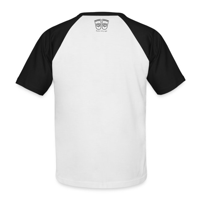 """JUST BE IT"" Men's Baseball Style T-shirt (black logo)"