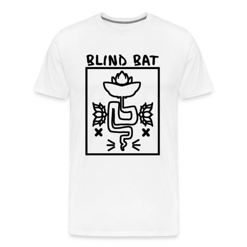 Blind Bat Lotus White Standard T-Shirt - Men's Premium T-Shirt