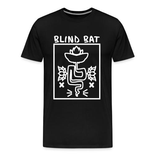 Blind Bat Lotus Black Standard T-Shirt - Men's Premium T-Shirt