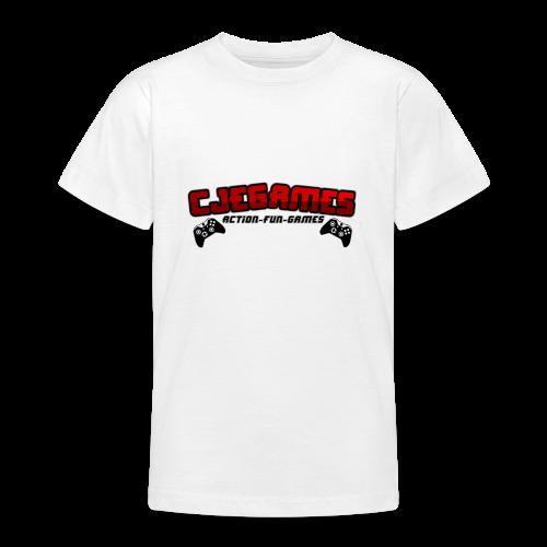 Teens CJEGAMES, Action-Fun-Games T-SHIRT.  - Teenage T-Shirt