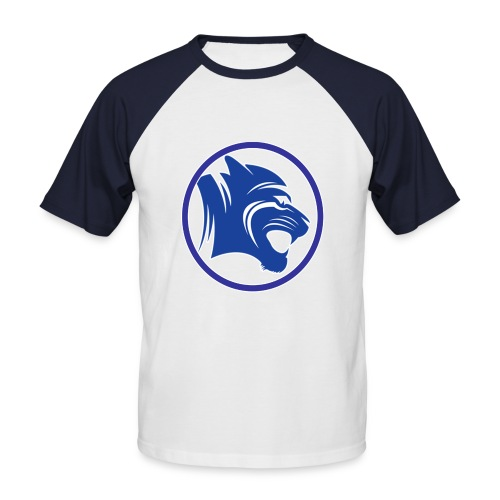 White And Navy T-Shirt w/Channel Logo - Men's Baseball T-Shirt