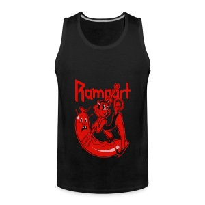 Rampart - Demon Lover Cartoon - Miesten premium hihaton paita