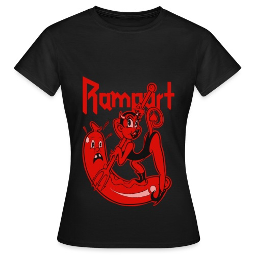 Rampart - Demon Lover Cartoon (Womens) - Naisten t-paita