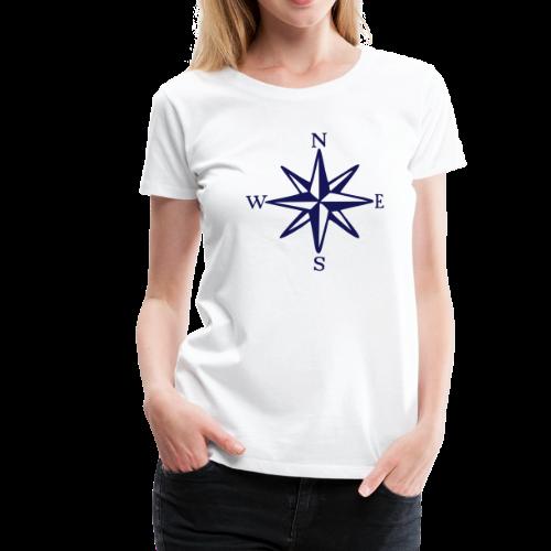 Windrose mit Himmelsrichtungen S-3XL T-Shirt - Frauen Premium T-Shirt
