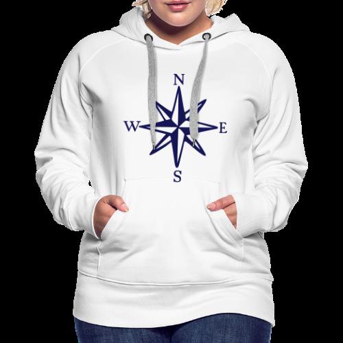 Windrose mit Himmelsrichtungen Hoodie - Frauen Premium Hoodie