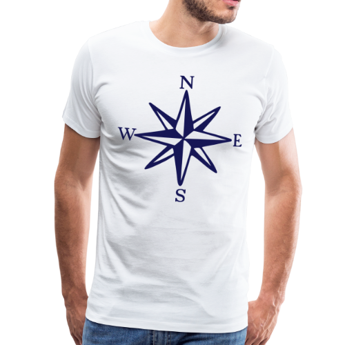 Windrose mit Himmelsrichtungen S-5XL T-Shirt - Männer Premium T-Shirt