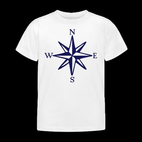 Windrose mit Himmelsrichtungen Kinder T-Shirt - Kinder T-Shirt