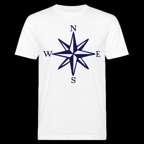 Windrose mit Himmelsrichtungen Bio T-Shirt - Männer Bio-T-Shirt