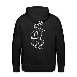 Baroque cellist - Men's Premium Hoodie
