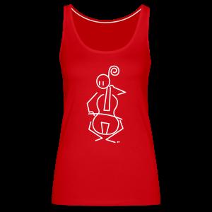 Baroque cellist - Women's Premium Tank Top