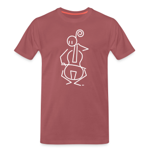 Baroque cellist - Men's Premium T-Shirt