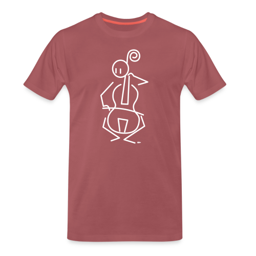 Baroque cellist - Men's Premium T-Shirt
