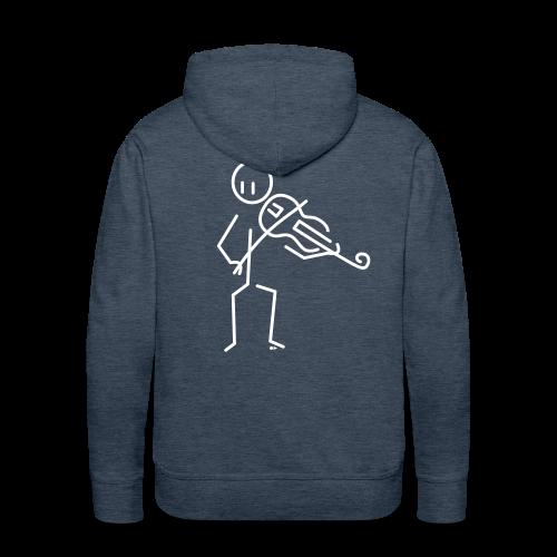 Baroque violist  - Men's Premium Hoodie