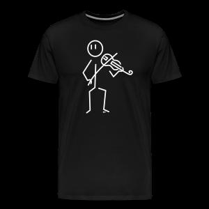 Baroque violinist - Men's Premium T-Shirt