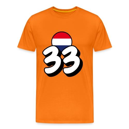 Max Heren-Shirt 33 - Mannen Premium T-shirt
