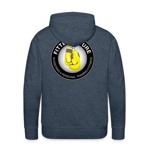 logo rug hoodie mannen - Mannen Premium hoodie