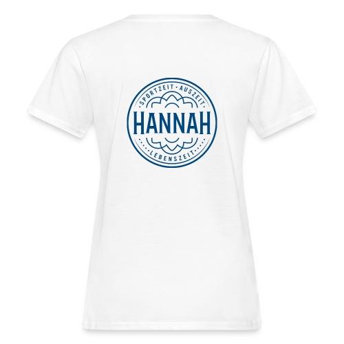 Damen-Shirt Hanna SAL, weiss, Logo Rücken - Frauen Bio-T-Shirt