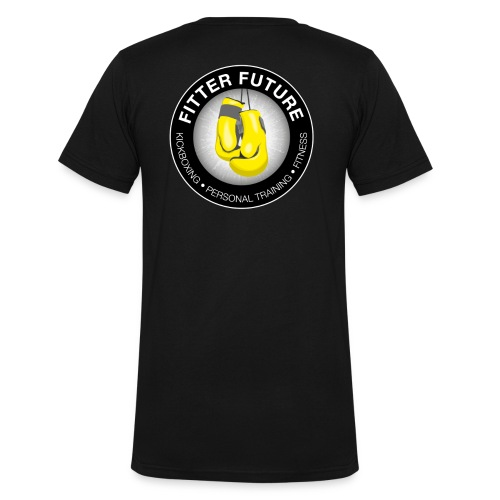 Logo back v-hals  - Mannen bio T-shirt met V-hals van Stanley & Stella