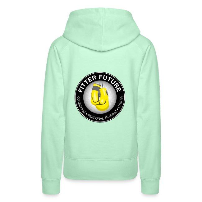 logo rug hoodie dames