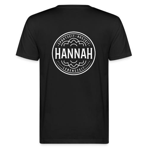 Herren-Shirt Hanna SAL, schwarz, Logo Rücken - Männer Bio-T-Shirt