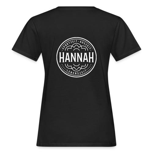Damen-Shirt Hanna SAL, schwarz, Logo Rücken - Frauen Bio-T-Shirt
