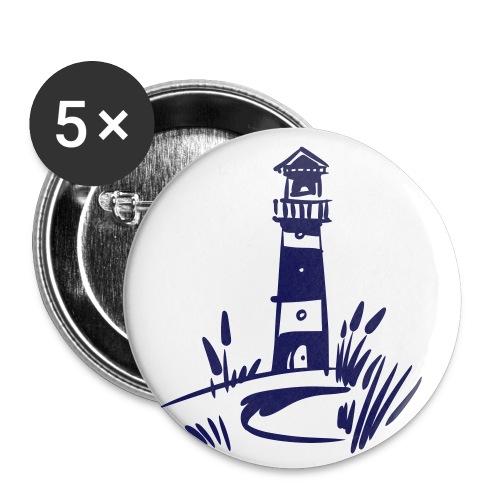 Leuchtturm klassisch - Buttons klein 25 mm