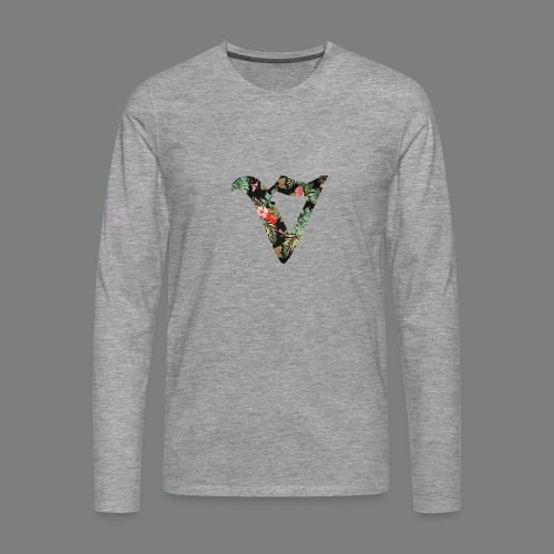 Mens Long Sleeve - Floral - Men's Premium Longsleeve Shirt
