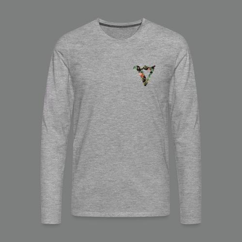 Mens Long Seeve (Heart) - Floral - Men's Premium Longsleeve Shirt