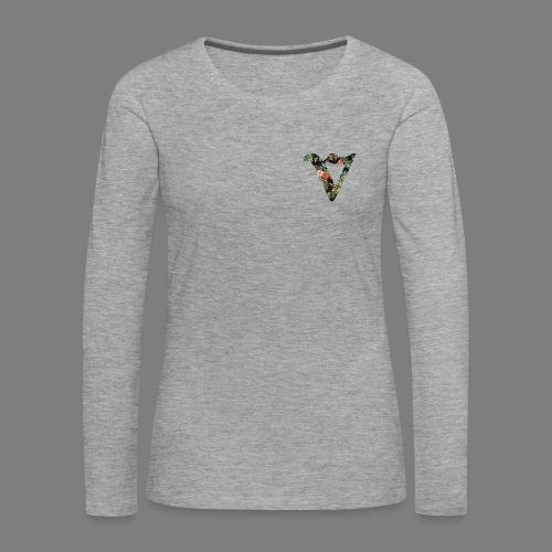 Womens Long Seeve (Heart) - Floral - Women's Premium Longsleeve Shirt
