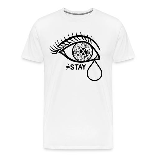 Blind Bat Stay White T-Shirt - Men's Premium T-Shirt