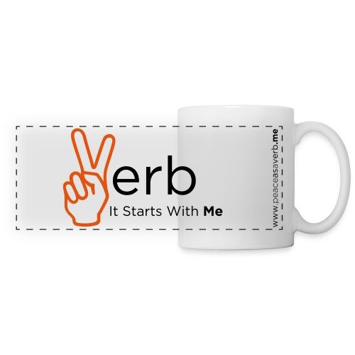 Peace As A Verb, Mug - Panoramic Mug