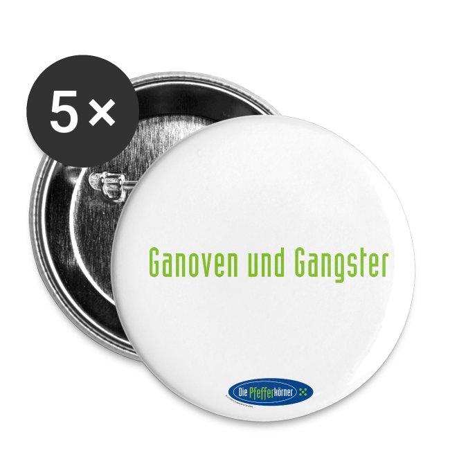 """Die Pfefferkörner - Button 32mm """"Ganoven und Gangster"""""""