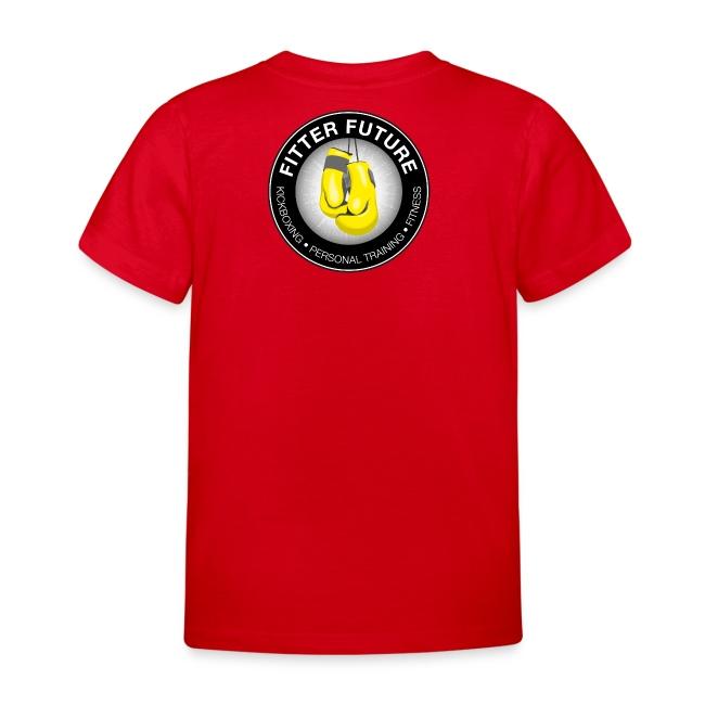 Kids t-shirt logo achterop