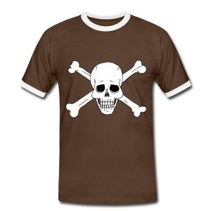 Totenschädel 2 - Männer Kontrast-T-Shirt