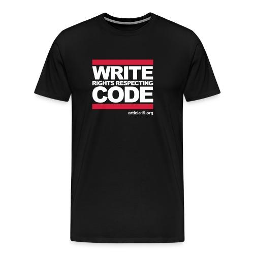 Men Premium Write Code - Men's Premium T-Shirt