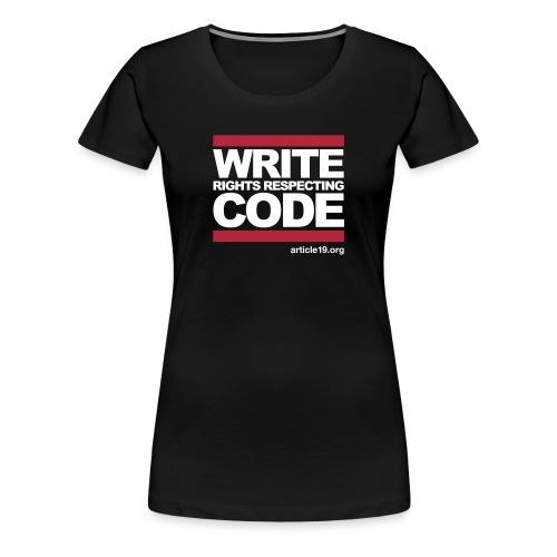 Women Premium Write Code - Women's Premium T-Shirt