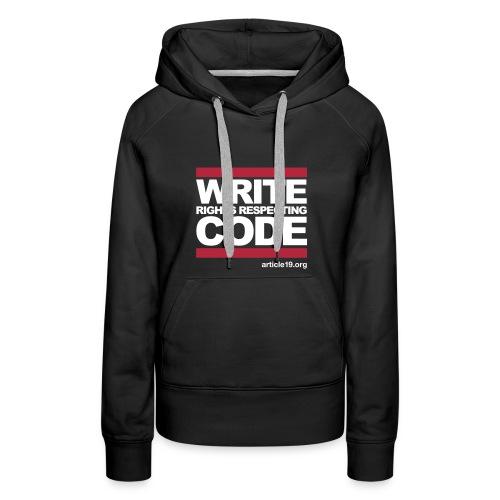 Women Premium Hoodiet Write Code - Women's Premium Hoodie